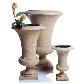 Vases-Modèle Empire Urn    large, surface pierre romaine-bs3117ros