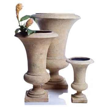 Vases-Modèle Empire Urn    large, surface pierre romaine-bs3117ros