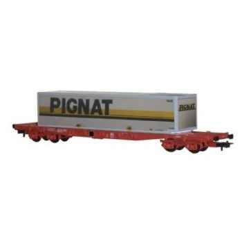 Wagon Plat Jouef Container Pignat SNCF -hj6031