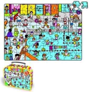 Puzzle Vilac 96 pièces piscine en valise-2550