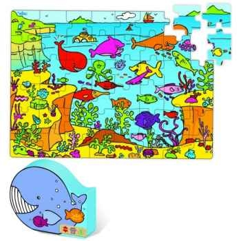 Puzzle Vilac 48 pièces pêche tropicale, boîte forme-2578
