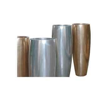 Vases-Modèle Mati Planter, surface aluminium-bs3114alu