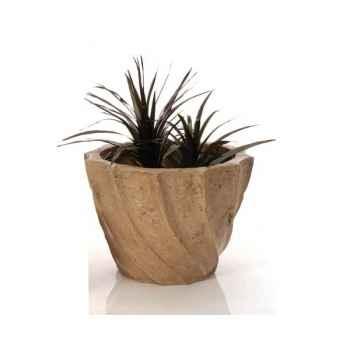 Vases-Modèle Aegean Planter - Large,  surface granite-bs3098gry