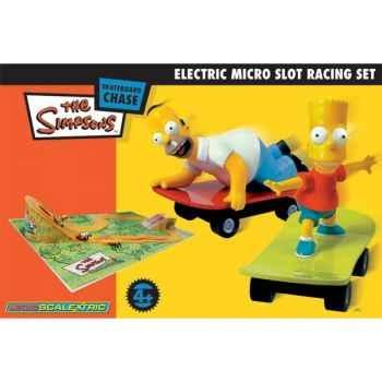 Coffret Micro Circuit Scalextric Simpsons -sca1056p