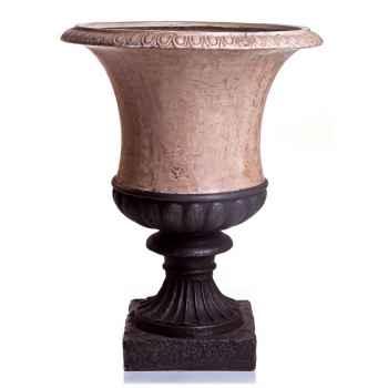 Vases-Modèle Ascot Urn, surface pierres romaine combinés au fer-bs3097ros/iro