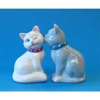 Figurine Mwah Chats blanc et gris -MW 93919