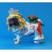 figurine chien pugnacious la mariee pug16160