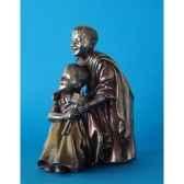 figurine en bronze tibet cimba et zonpa tib203