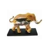 figurine elephant tusk plaines africaines tu13041