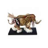figurine elephant tusk guerrier africain tu13042