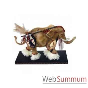 Figurine Elephant Tusk Guerrier africain -TU13042