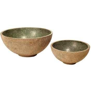 Vases-Modèle Sulu Bowl Junior, surface granite et albâtre noir-bs3426gry/alab