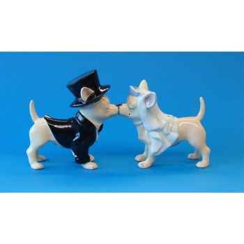 Figurine Chien Chihuahua Les mariés -CHI13353