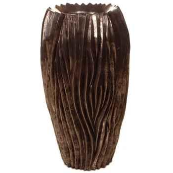 Vases-Modèle Alon Vase, surface pierre noire-bs3414lava