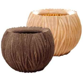 Vases-Modèle Alon Bowl, surface pierre noire-bs3413lava