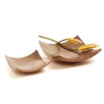 Vases-Modèle Kata Bowl, surface bronze nouveau-bs3388nb