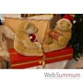 automate decors de noe2 ours polaire sur paquet cadeau grand modele ou2a