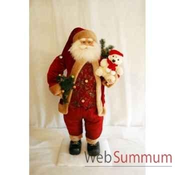 Automate décors de Noël Père Noël avec ourson dans les bras -PN2A