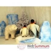 automate decors de banquise scene complete avec quatre automates petit modele sc4a