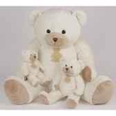 peluche histoire d ours les calin ours tres grand modele 80cm ivoire ho1343