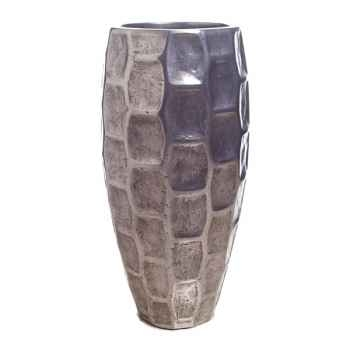 Vases-Modèle Mando Vase, surface aluminium-bs3354alu