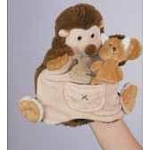 marionnette peluche histoire d ours herisson 22cm et sa petite marionnette doigt renard ho1354