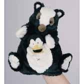 marionnette peluche histoire d ours moufette 22cm et sa petite marionnette doigt abeille ho1355