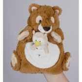 marionnette peluche histoire d ours ecureui22cm et sa petite marionnette doigt chouette ho1356