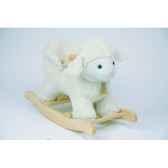 agneau a bascule musicahistoire d ours avec siege bebe 30cm ho1276