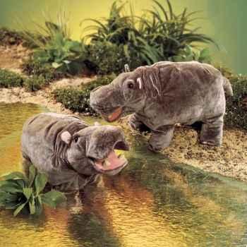 Marionnette Peluche Folkmanis Hippopotame -2855