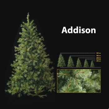 Sapin de Noël 210 cm Professionnel Addison Hard Needle Pine Tree Vert