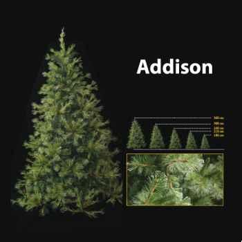 Sapin de Noël 180 cm Professionnel Addison Hard Needle Pine Tree 400 lumières Vert