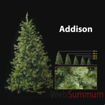 Sapin de Noël 210 cm Professionnel Addison Hard Needle Pine Tree 600 lumières Vert