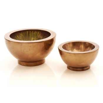 Vases-Modèle Paso Bowl Small, surface bronze nouveau-bs3347nb