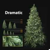 sapin de noe210 cm professionnedramatic pine tree vert