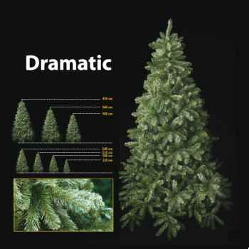 Sapin de Noël 210 cm Professionnel Dramatic Pine Tree Vert
