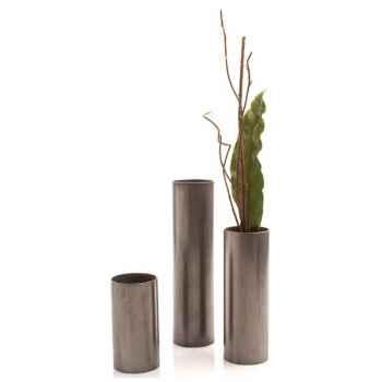 Vases-Modèle Cylinder Vase Large, surface en fer-bs3343iro
