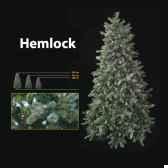 sapin de noe240 cm professionnehemlock downswept pine tree 900 lumieres vert