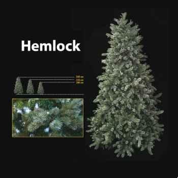 Sapin de Noël 240 cm Professionnel Hemlock Downswept Pine Tree 900 lumières Vert
