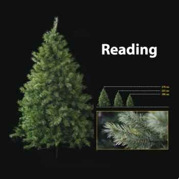Sapin de Noël 180 cm Professionnel Reading Sapin avec 450 lumières Vert