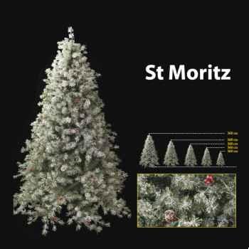 Sapin de Noël 240 cm Professionnel St Moritz Winter Tree 750 lumières White-Berry