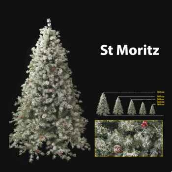 Sapin de Noël 300 cm Professionnel St Moritz Winter Tree 1150 lumières White-Berry