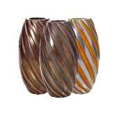 vases modele turbo vase surface aluminium avec patine or bs3338alu org