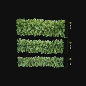 Guirlande Douglas Lumineuse Professionnelle 240 lampes LED blanc Vert 250/35 cm
