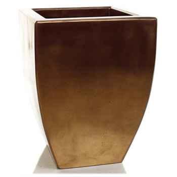 Vases-Modèle Kobe Planter, surface bronze nouveau-bs3326nb