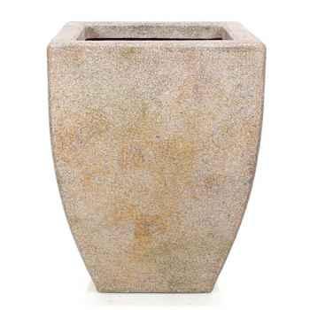 Vases-Modèle Kobe Planter,  surface granite-bs3326gry