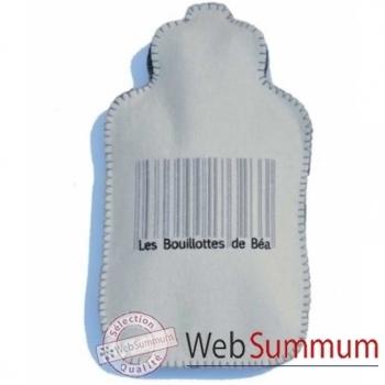 Bouillotte Code barre ecru gris - cbra0105