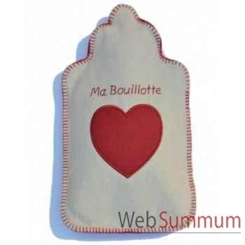 Bouillotte Ma bouillotte ecru rouge - mbra0106