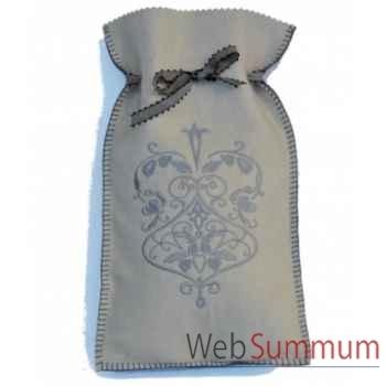 Bouillotte Medaillon ecru gris - medru0105