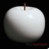 pomme blanche brillant glace bulstein diam 105 cm indoor